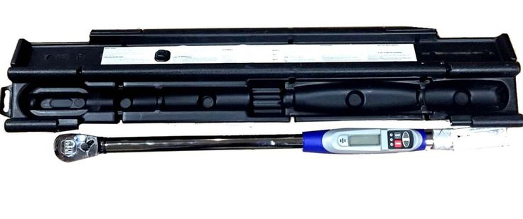 """1/2"""" Dr Electronic Digital Torque Wrench 25-250 Ft Lbs.(33.9-339mm)   - Certification included - Case Included : Yes - Drive Size : 1/2"""" - Style Name : Electronic Torque Wrench - Torque Range : 25-250 ft-lbs (33.9-339mm) - Famous-maker hand tools at a closeout price! - Easy to read LCD display for fast measurement - LED lights let you know when to slow torquing - Easy to operate settings adjust quick - Ergonomic design for solid grip  Name-brand hand tools at a closeout price."""
