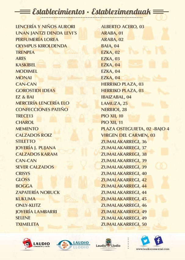 MERCADO  DE SALDOS EN LA CALLE DE LAUDIO   El próximo viernes, 27 de febrero y sábado, 28 de febrero, en horario de mañana y tarde, las calles de Laudio/Llodio acogerán la segunda edición de Mercado de Saldos en la Calle.   Organiza: APILL, Laudio Comercio y Ocio. Colabora: Ayuntamiento de Laudio