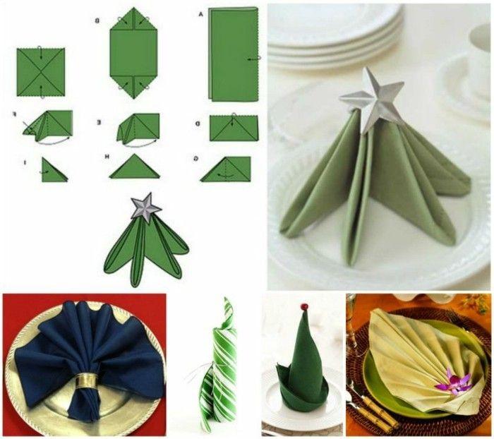 Pliage De Serviette Pour Noel Idees Et Conseils Archzine Fr Napkin Folding Diy Napkins Christmas Napkins