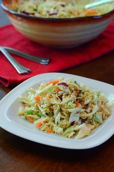 Ramen Cabbage Salad by From Valerie's Kitchen @Valerie | From Valerie's Kitchen