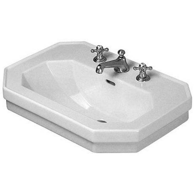 Use this attractive sink to take your bathroom remodel to the next level. A classic color and elegant porcelain material make this sink able to coordinate well with a variety of decors and color schemes.