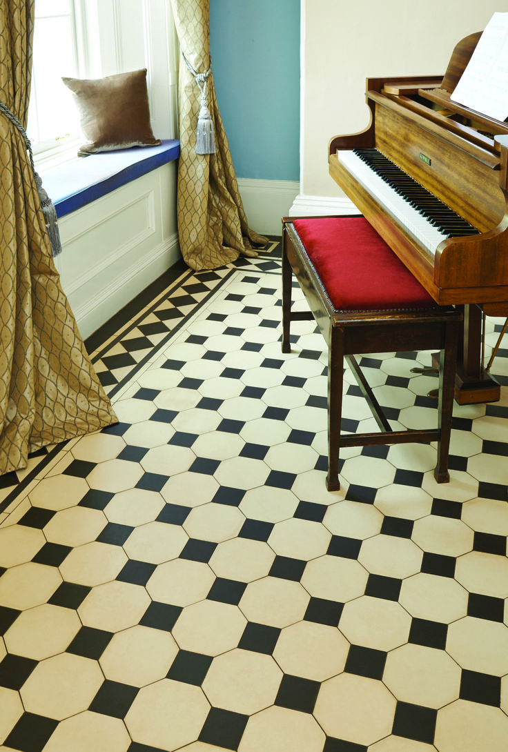27 best victorian floor tiles images on pinterest dover white featured here is the chesterfield octagonal pattern which incorporates a classic octagon and dot design and can be used with a combination of different dailygadgetfo Images