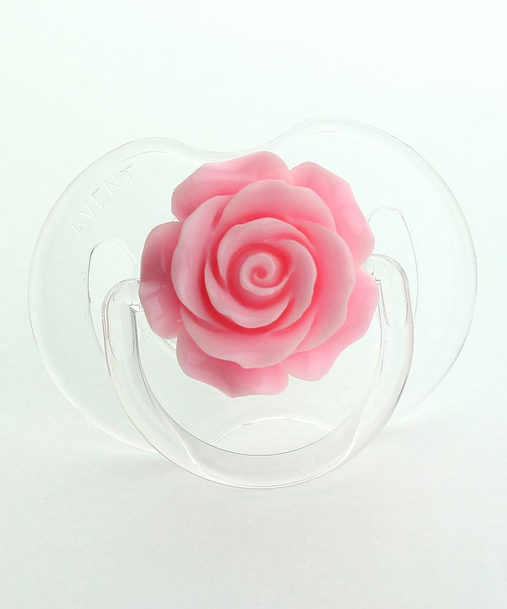 Look what I found on #zulily! Light Pink Rose Avent Pacifier by Crystal Dream #zulilyfinds