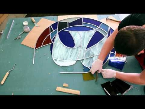 Stained glass lessons @ Mandy Wood Stained Glass .com - YouTube