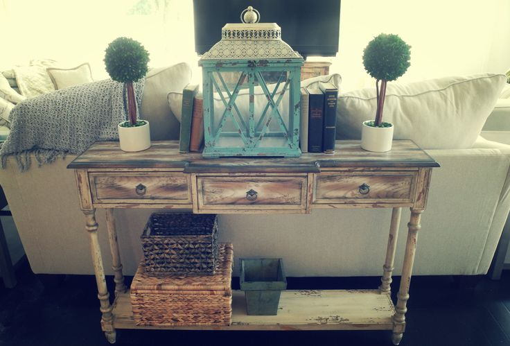 Farmhouse Chic Sofa Table Swooning Over My White