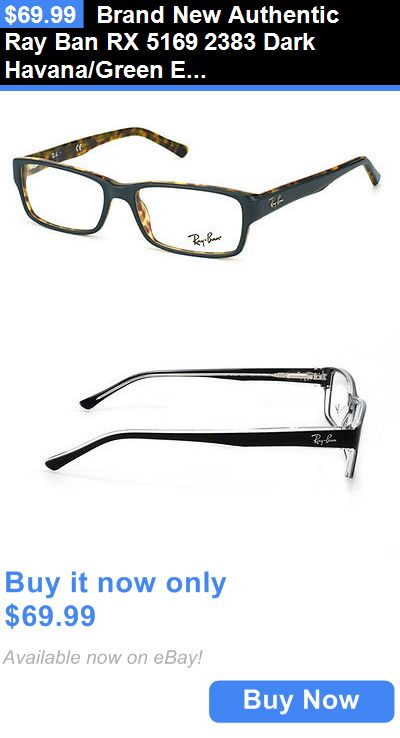 ray ban havana green eyeglasses  eyeglass frames: brand new authentic ray ban rx 5169 2383 dark havana/green eyeglasses