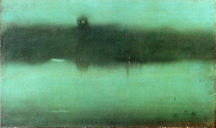 The Athenaeum - Nocturne: Grey and Silver (James Abbott McNeill Whistler - 1873-1875)