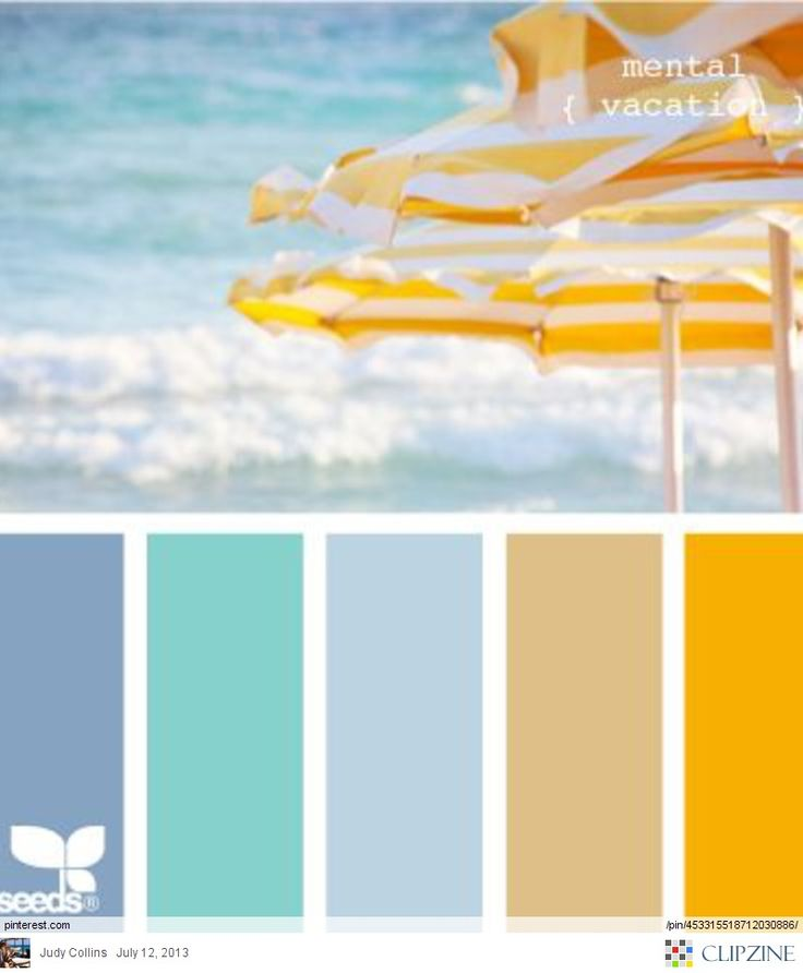 Ocean & Beach Umbrellas Color Palette Brought to you by Williams Group of  Pelican Real Estate