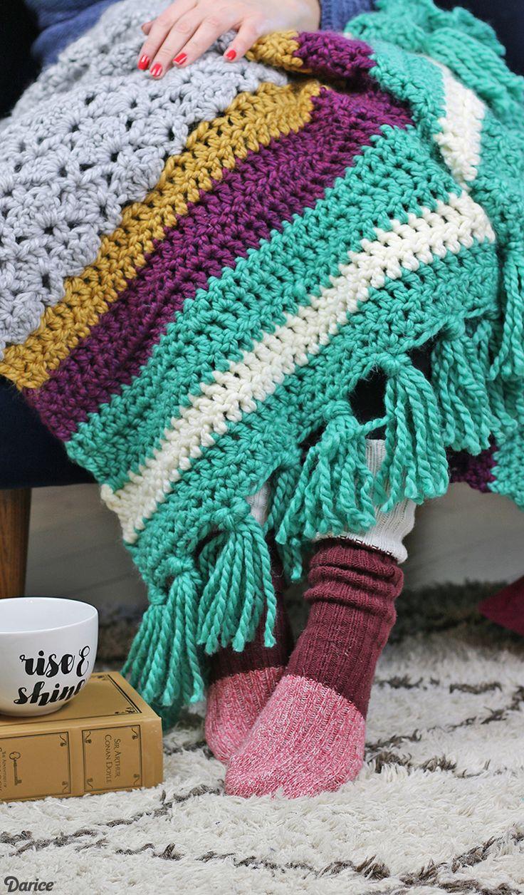 Mejores 192 imágenes de Crochet blankets en Pinterest | Mantas de ...