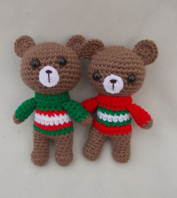 Teddy Bears Crochet Toy Gift Amigurumi by LorensDolls on Etsy