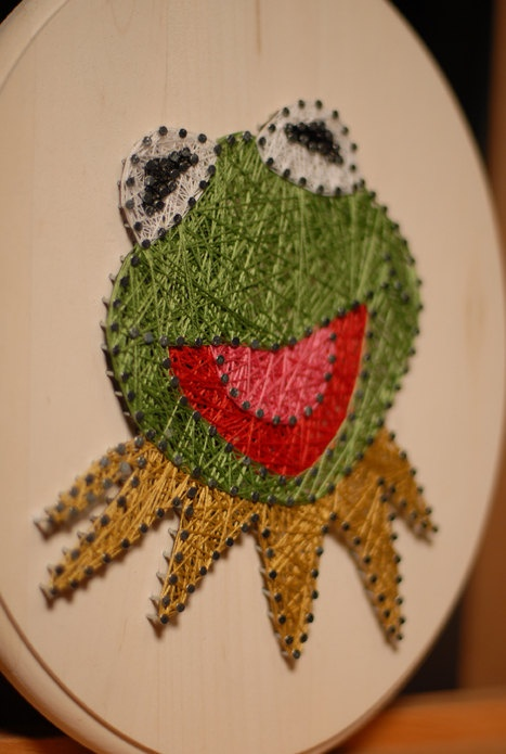 Kermit the Frog Muppet String Art   by MyCreativeDots