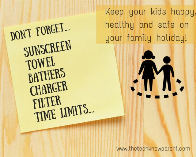 Have a fantastic family holiday with these tips for bringing your devices with you on holiday.  www.thetechknowparent.com