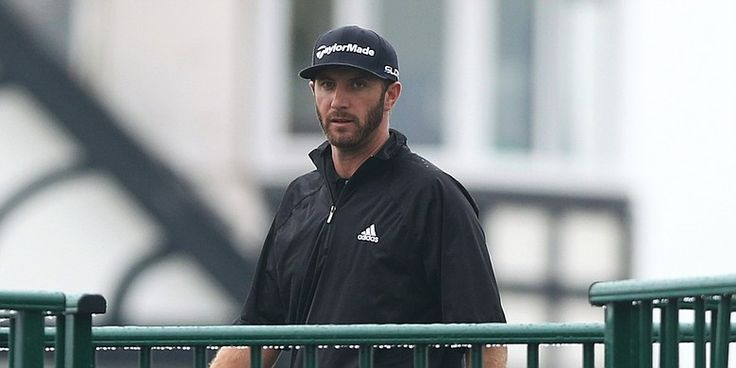 Dustin Johnson showed up on the range Tuesday morning at Torrey Pines ...