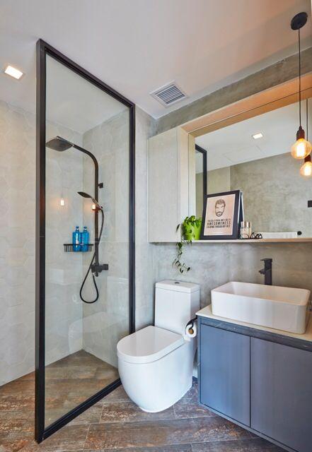 Bathroom : cement screed