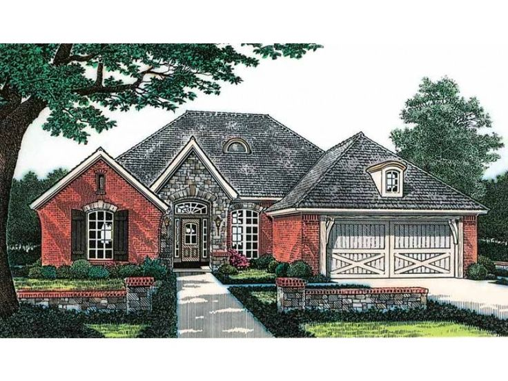 Contemporary 1 Story French Country House Plans S And Ideas