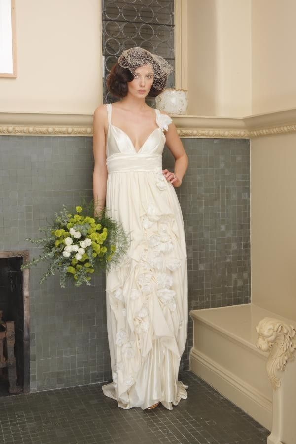 25 best shabby chic inspired party images on pinterest for Organic cotton wedding dress