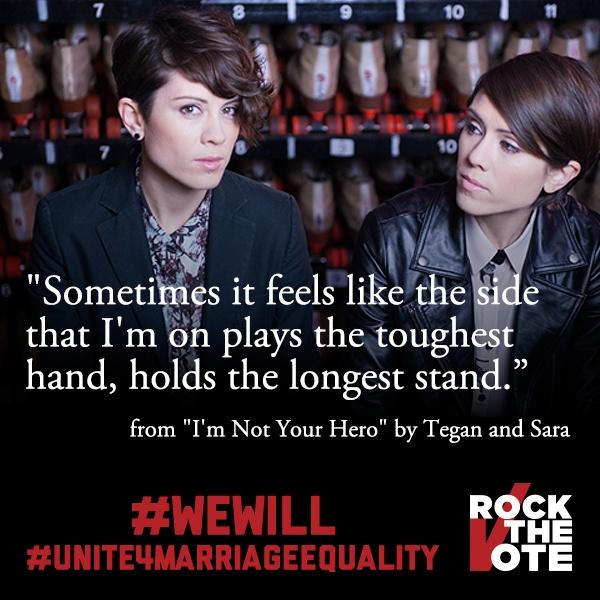 Tegan & Sara on marriage equality