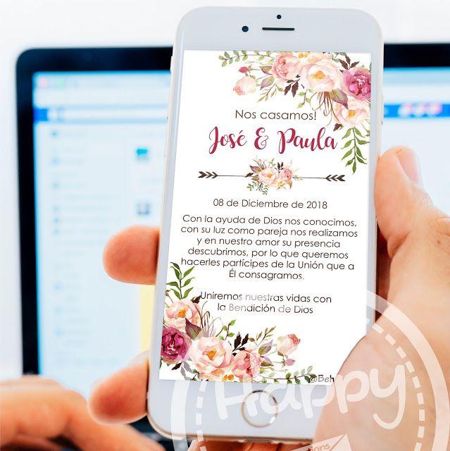 Be Happy Tarjeta De Invitación Digital Invitaciones De