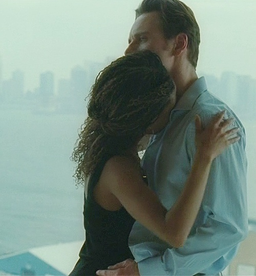 Michael Fassbender in Shame. with his co-star  Nicole Beharie and former  girlfriend  who is also the star of Sleepy Hollow