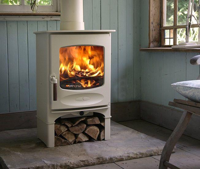 Cream wood burner
