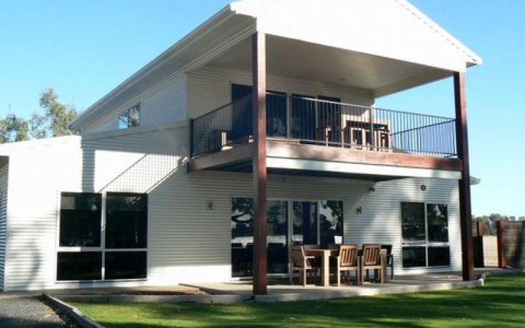 Lovely Country Steel Kit Villa w/ Verandah & Balcony (HQ Plans & Pictures) | Metal Building Homes