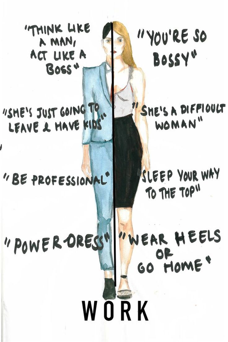 These illustrations brilliantly summarise the double standards women face