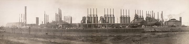 "Furnaces at the ""Tennessee Coal Iron and Railroad Company"" (Birmingham - Alabama - 1909) [1700x400] #HistoryPorn #history #retro http://ift.tt/1sAo7YX"