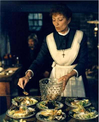 "From ""Babette's feast"".   Babette in the kitchen."
