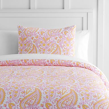 dress your bed with this whimsical duvet cover and pillow sham woven with pure cotton this chic paisley layer is stylish as is soft