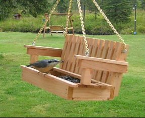 Mini Porch Swing Bird Feeder