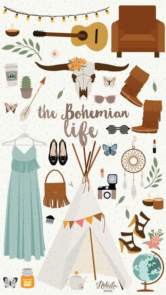 Illustration Boho. · Natacha Birds Portfolio Illustratrice Webdesigner
