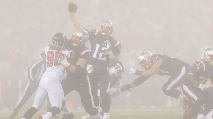 New England Patriots coaches had an unusual problem when they went to review parts of Sunday night's 23-7 victory over the Atlanta Falcons on their film with a sideline view: They couldn't see anything because of the fog....