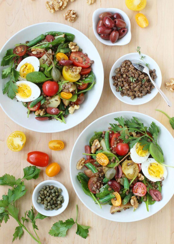 Lentil Niçoise Salad http://foodnouveau.com/recipes/salads/lentil-nicoise-salad/ #LentilsLoveVeggies #Ad