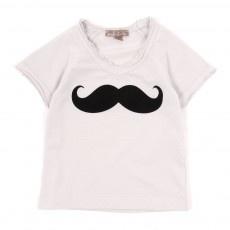 T-shirt Moustache Bébé - Gris clair