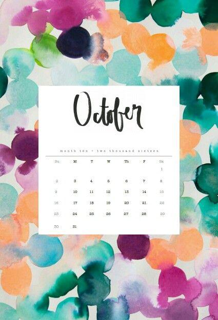 Calendar Wallpaper Phone : October calendar wallpaper pinterest