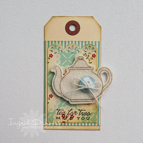 Manila Gift Tag Tea Set