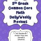 Need a spiral review to review all the Common Core math skills? This resource contains 40 weeks of review specifically written for the common core...