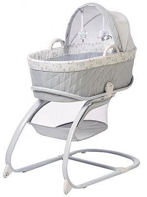 "The Koala Baby Keep Me Near Bassinet in Gray is the perfect nursery accessory for your newborn's peaceful sleep. It's clean contemporary design offers an upscale presentation in any setting. The innovative ""Take-Along"" bed design, allows easy removal of the sleeping area from the frame, so you can easily bring your Bassinet where ever nap time occurs. When returning the bed to the frame the ""Auto Latch"" feature makes sure all is safe and secure. The sleeping enviro..."
