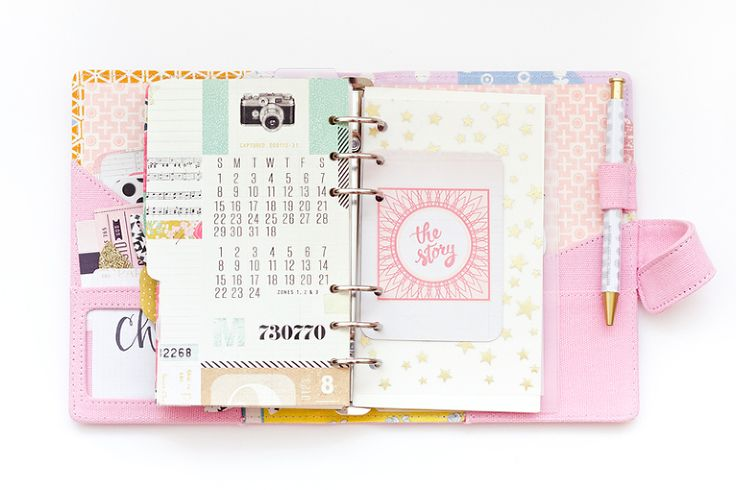 Planner12 Use a clear pocket to hold words for others till you see them