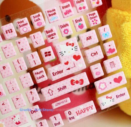 Ucuz 1 paket süper kawaii hello kitty diy bilgisayar klavye Paster çıkartmalar tatlı Paster et pvc etiket defter vb dizüstü etiket, Satın Kalite Diğer Ofis ve Okul Malzemeleri doğrudan Çin Tedarikçilerden: tasarım: karikatürboyutu: kesmek mümkün diymanuel ölçüm( lütfen izin ve plusmn; 2cm hatası)malze