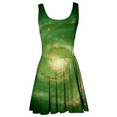 Green nebula circle dress