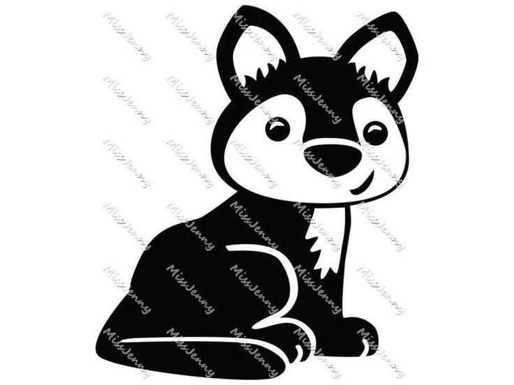 """Bügelbild+""""Wolf""""+von+MissJenny+auf+DaWanda.com"""