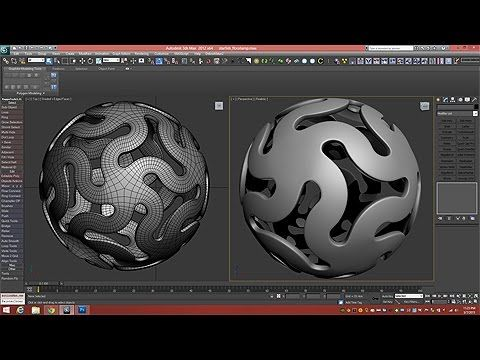 3D Tutorial | Modeling A Linked Star Ball | 3dsmax - YouTube