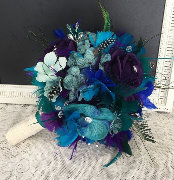 Peacock Wedding Bouquet Feather Bouquet Wedding by DarlasBlooms