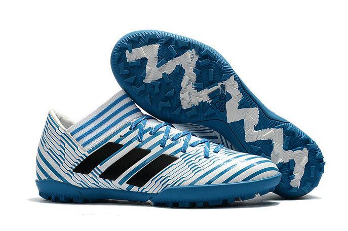more photos eef68 373ec 2018 World Cup Adidas Nemeziz Tango 17 3 TF Blue White Black