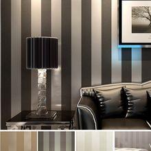 modernen schwarzen tapete gestreift lila und silber glitter tapeten rolle für wand wohnzimmer Schlafzimmer tv sofa hintergrund R103(China (Mainland))