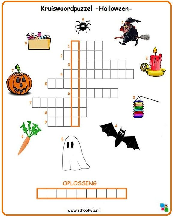 Kruiswoordpuzzel - Halloween & https://www.pinterest.com/xxccw/school-ideas/