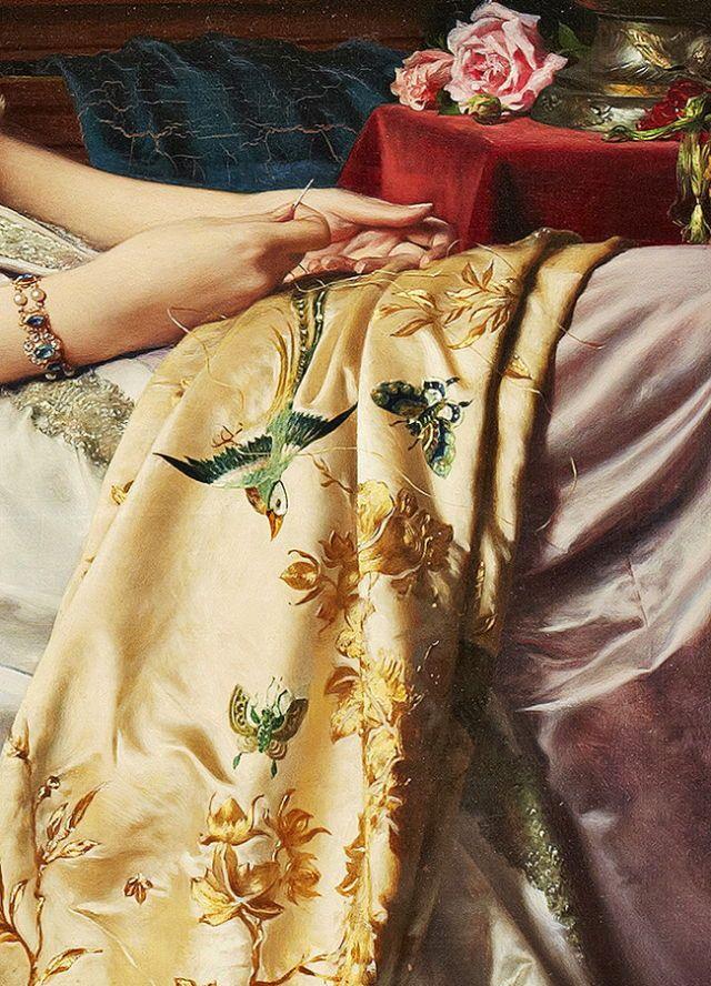 Wladyslaw Czachórski. Detail from Resting Beauty, 19th Century.