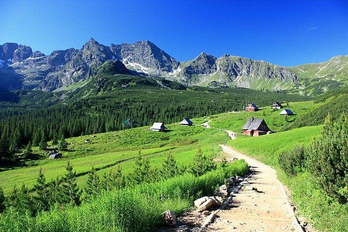 Dolina Gąsienicowa. Dolina Gąsienicowa - dobra okazja, by zobaczyć trochę Tatr Wysokich i górskich jezior. W Kuźnicach wybieramy szlak wiodący przez Skupniów Upłaz i po ok. dwóch godzinach jesteśmy w schronisku Murowaniec. Tutaj pojawiają się dwie dalsze opcje: krótsza wycieczka nad Czarny Staw Gąsienicowy (obowiązkowo trzeba go zobaczyć!) lub dłuższa, czarnym szlakiem między stawami na Przełęcz Karb pod Kościelcem i stamtąd w dół nad Czarny Staw Gąsienicowy.