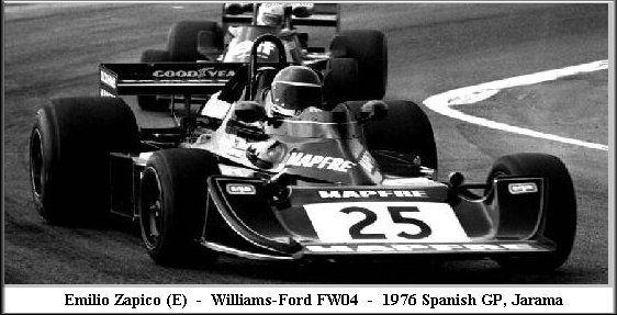 Williams FW 04 Emilio Zapico 1976